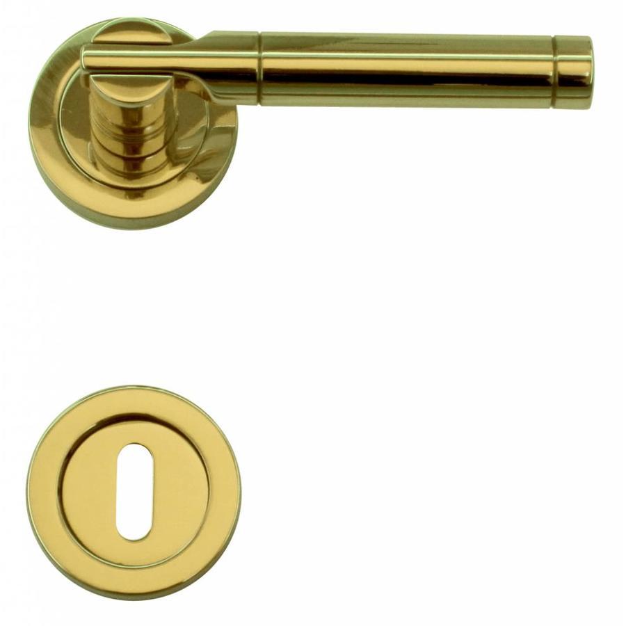 Deurklinken Vito koper met sleutelplaatjes