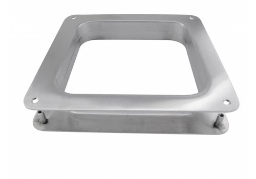 SQUARE PORTHOLE 200 MM INOX PLUS WITH PATENT FIELDS