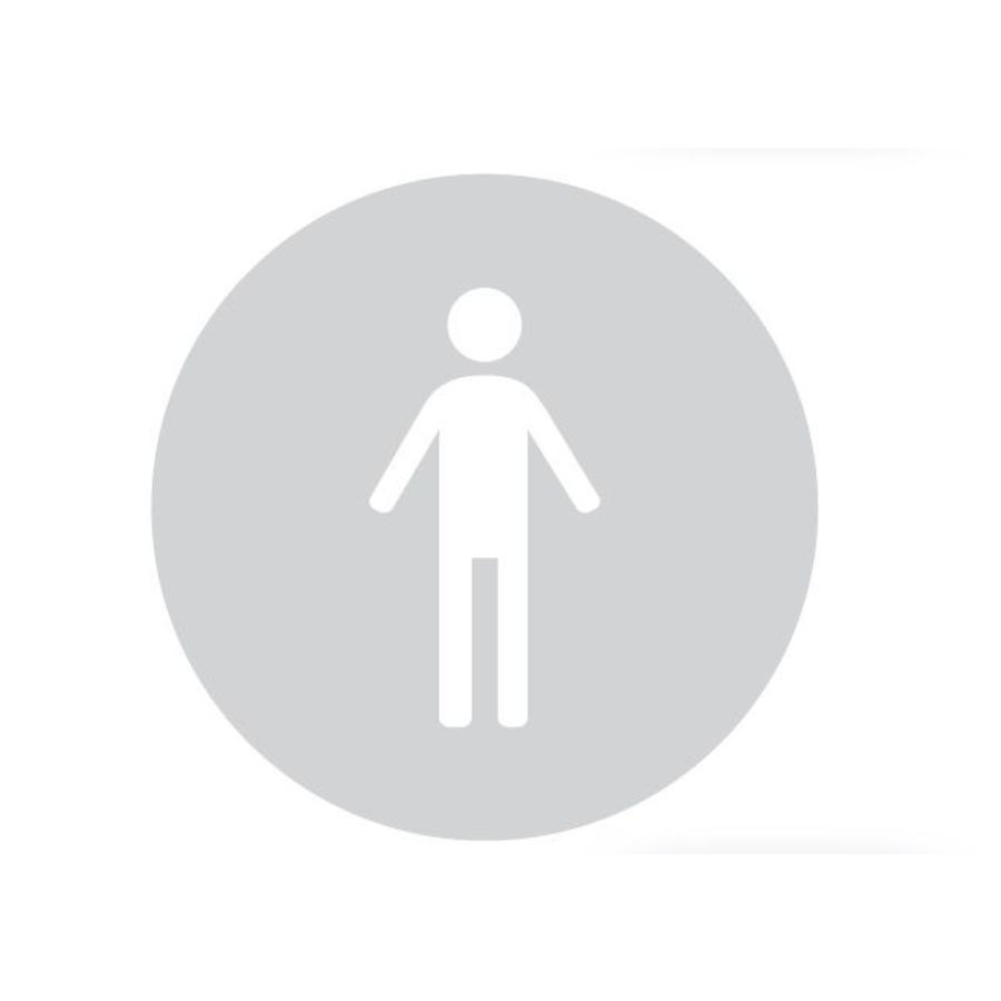 GLAS ROND PICTO WC MAN 198MM DIKTE 4MM