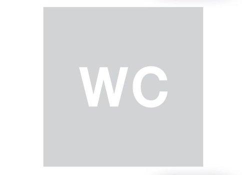 GLAS QUADRATISCHES PICTO WC 198 MM DICKE 4MM
