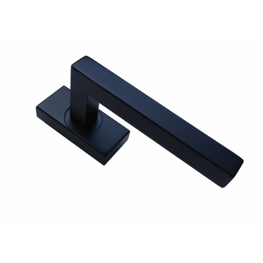 Zwarte raamkruk Kubic shape 16mm