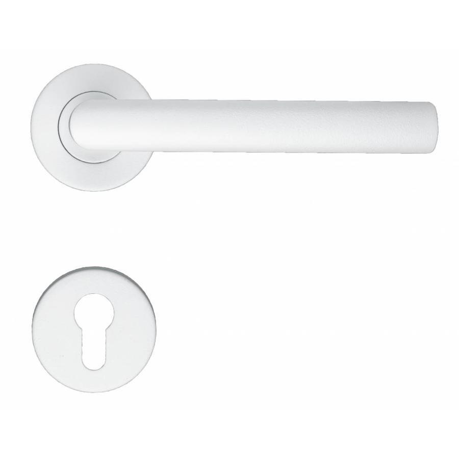 Witte deurklinken I Shape 19mm met profielcilinderplaatjes