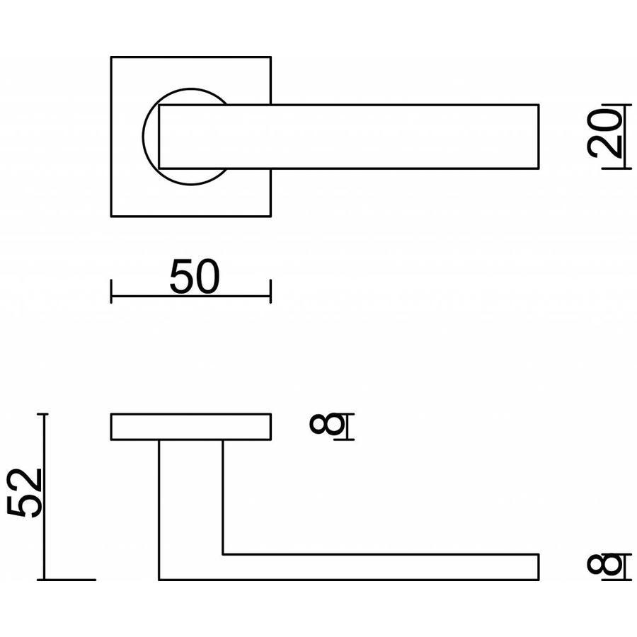 Witte deurklinken Cosmic met sleutelplaatjes