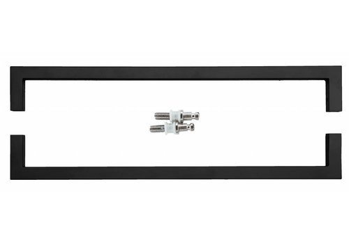 Door handle Cubica 20/500 black pair for glass