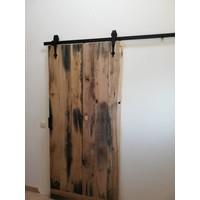Schuifdeursysteem 2 meter, Classic voorzijde mat zwart