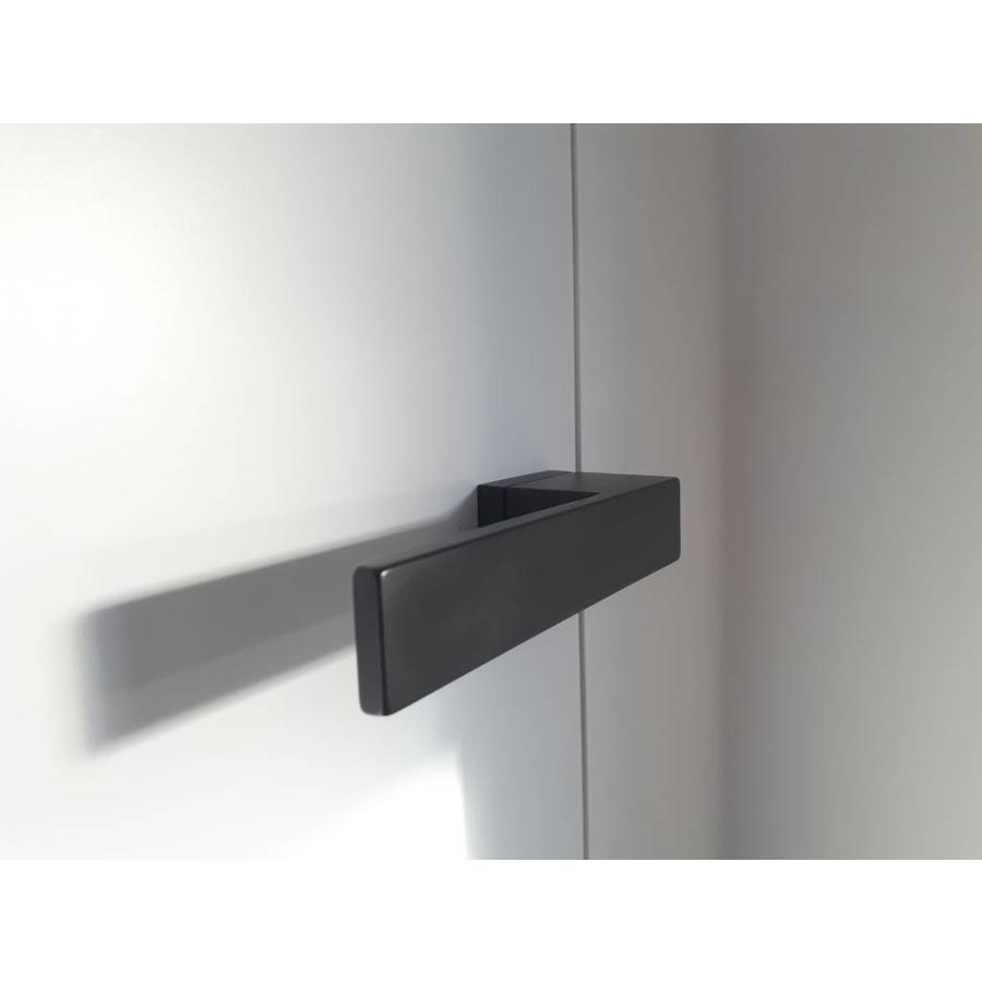 Zwarte deurklinken X-Treme met WC garnituur