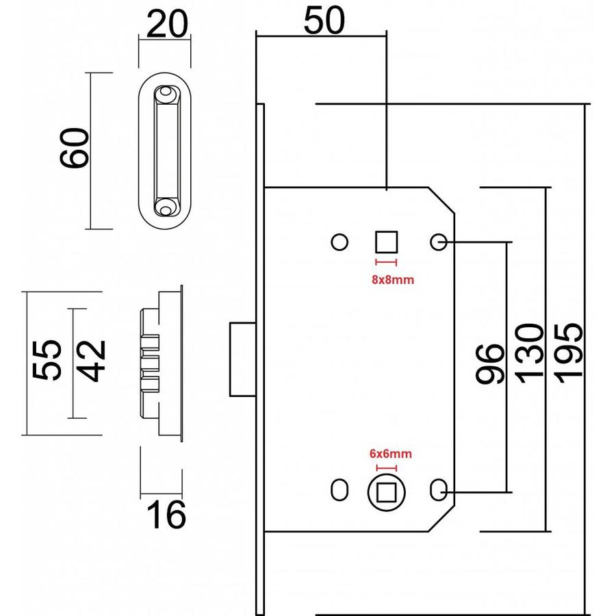 MAGNEETSLOT AGB 22MM INOX LOOK WC 96MM