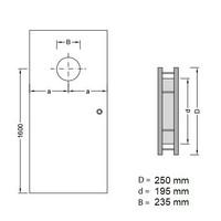 RVS patrijspoort B5000 250 mm