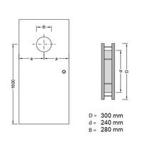Dunne RVS patrijspoort B5000 300 mm