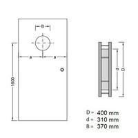 Dunne RVS patrijspoort B5000 400 mm