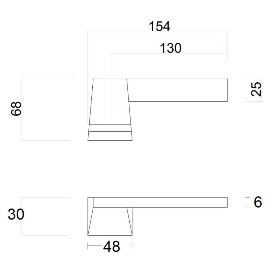 Witte deurklinken Seliz met cilinderplaatjes