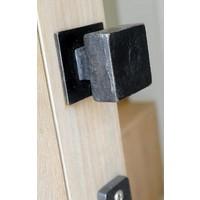 Zwart veiligheidsrozet vierkant uit verouderd ijzer met een diameter van 50mm
