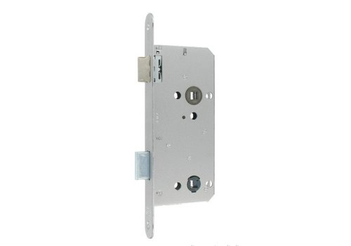 Litto WC lock 96/50 stainless steel look - with rounded front plate 240x22mm
