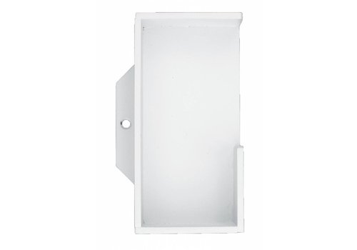 COQUILLE CARRE MASSIVE 40MM BLANC