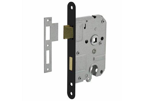 Cylinder lock 55 mm, Black, 20x175mm, mandrel 50mm