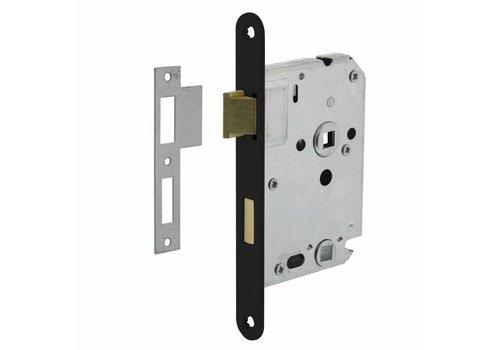 Bathroom / toilet lock 63/8mm, Black, 20x175mm, mandrel 50mm incl. Lock plate