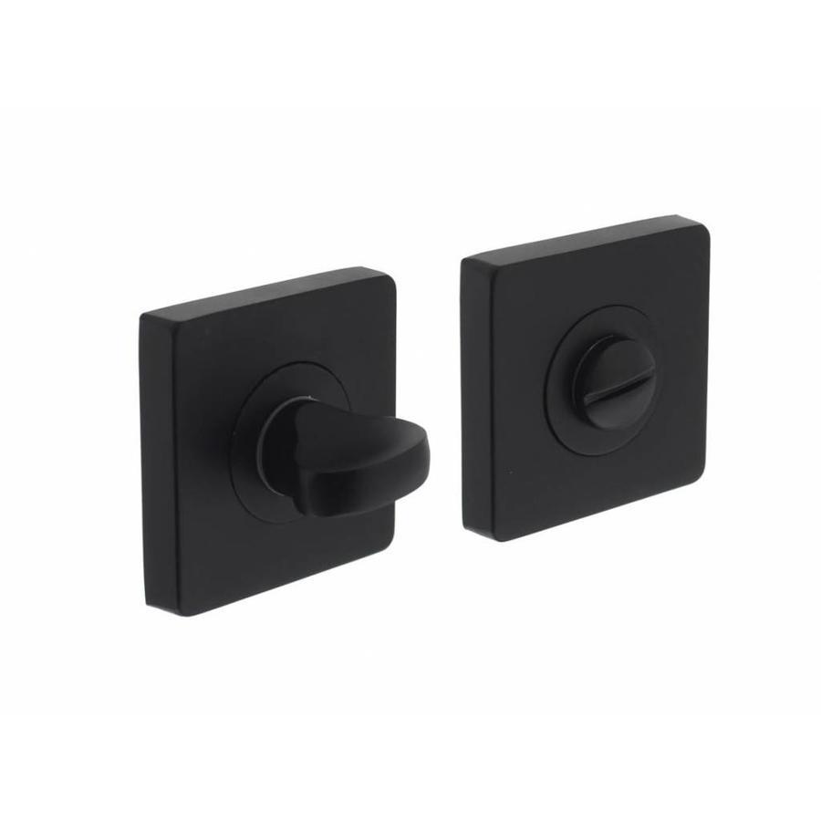 1 Intersteel Rozet toilet-/badkamersluiting vierkant mat zwart