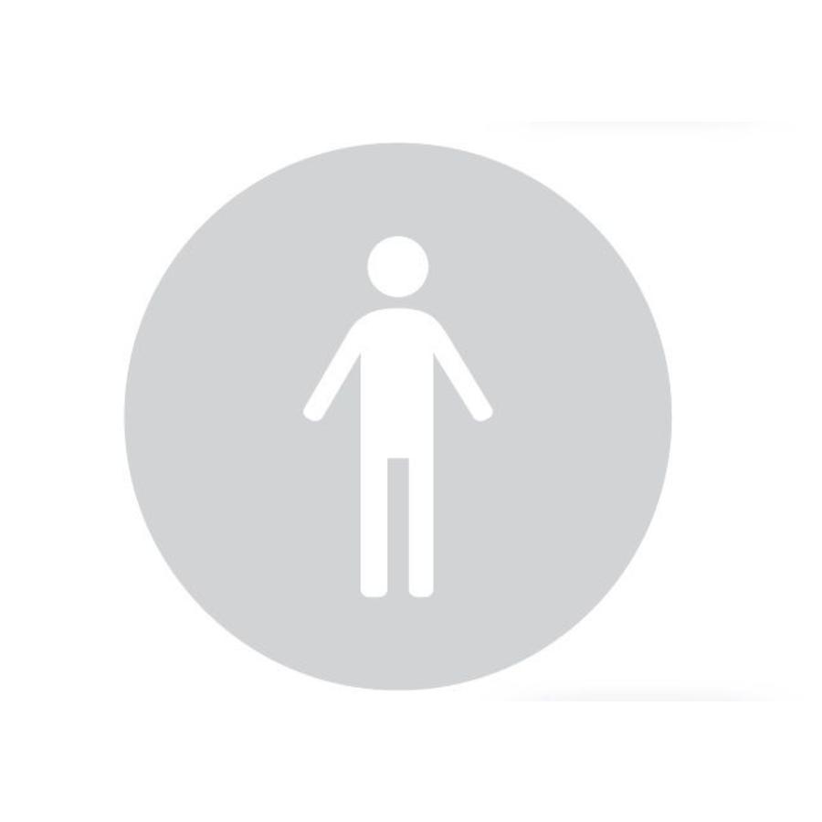 GLAS ROND PICTO WC MAN 298 MM DIKTE 8 MM