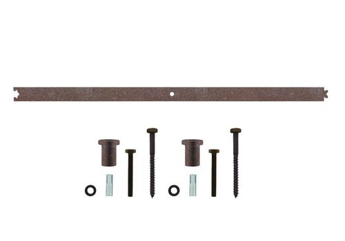 Intermediate rail 90cm for sliding door system, antique finish