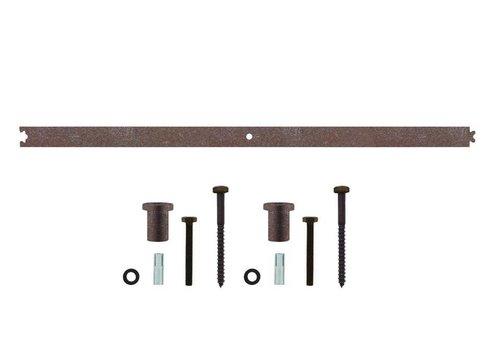 Tussenrail 90cm tbv schuifdeursysteem, antiek finish