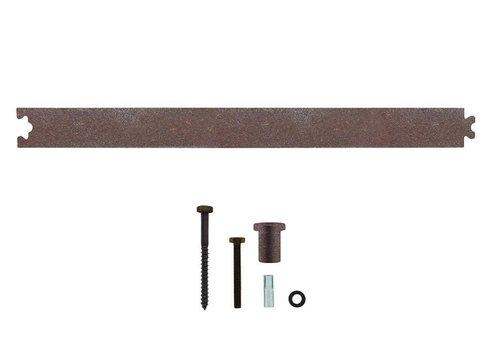Tussenrail 45cm tbv schuifdeursysteem, antiek finish