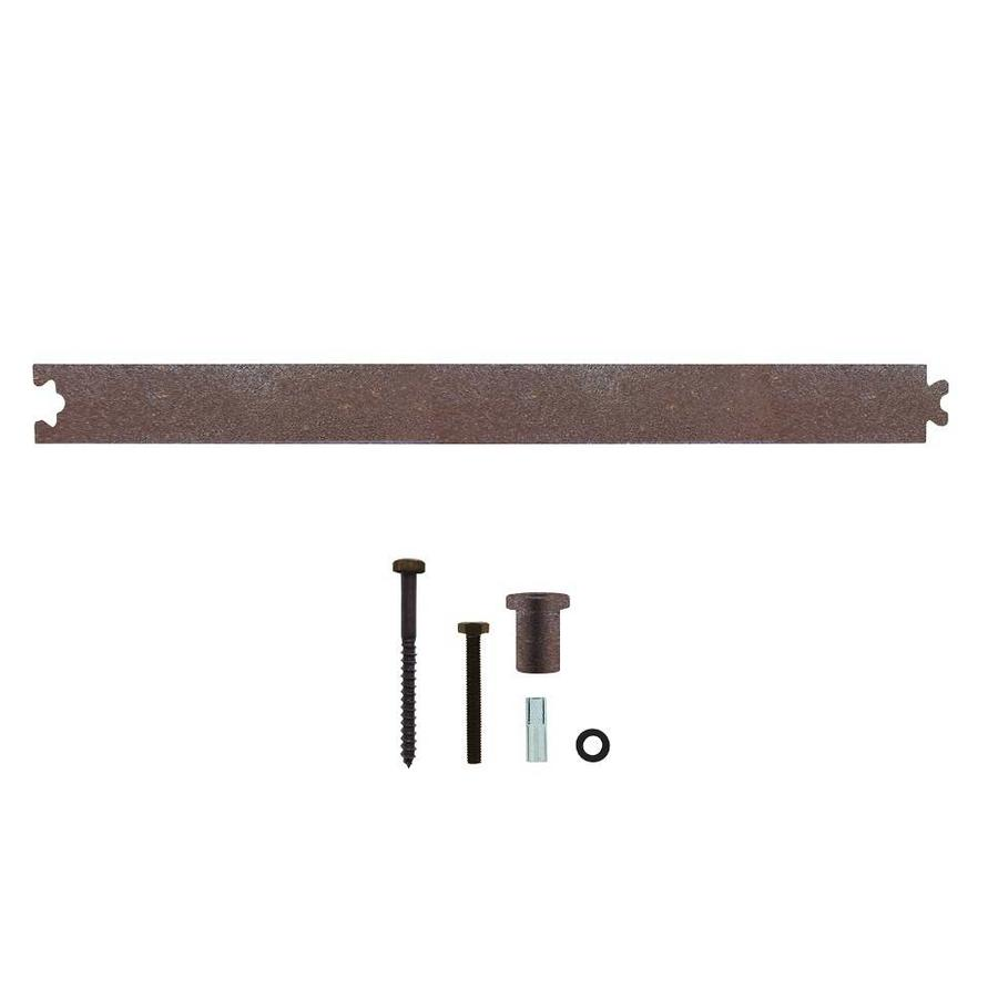 Tussenrail 45cm tbv schuifdeursysteem inclusief bevestigingsset, antiek finish