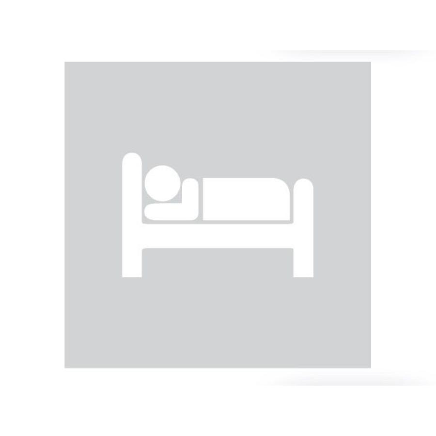 GLAS VIERKANT PICTO BED 198 MM DIKTE 6 MM