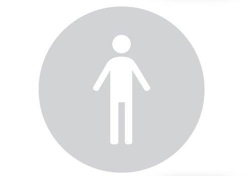 GLAS ROND PICTO WC MAN 198MM DIKTE 6MM