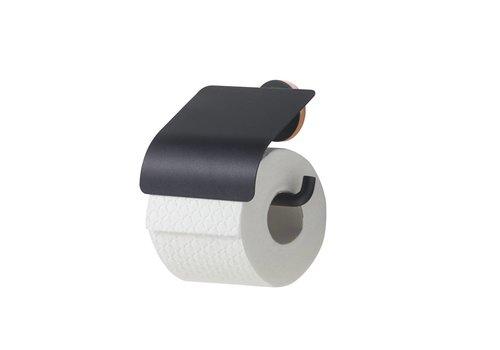Tiger Urban Porte-rouleau papier toilette avec couvercle Noir