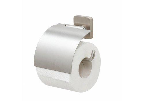 Tiger Onu Toilettenpapierhalter mit Deckel in gebürstetem Edelstahl