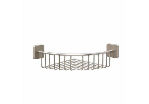 Tiger Onu Corner shower basket Stainless steel brushed