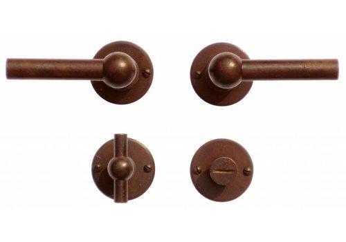 Door handles Petra NM L+L rust with WC
