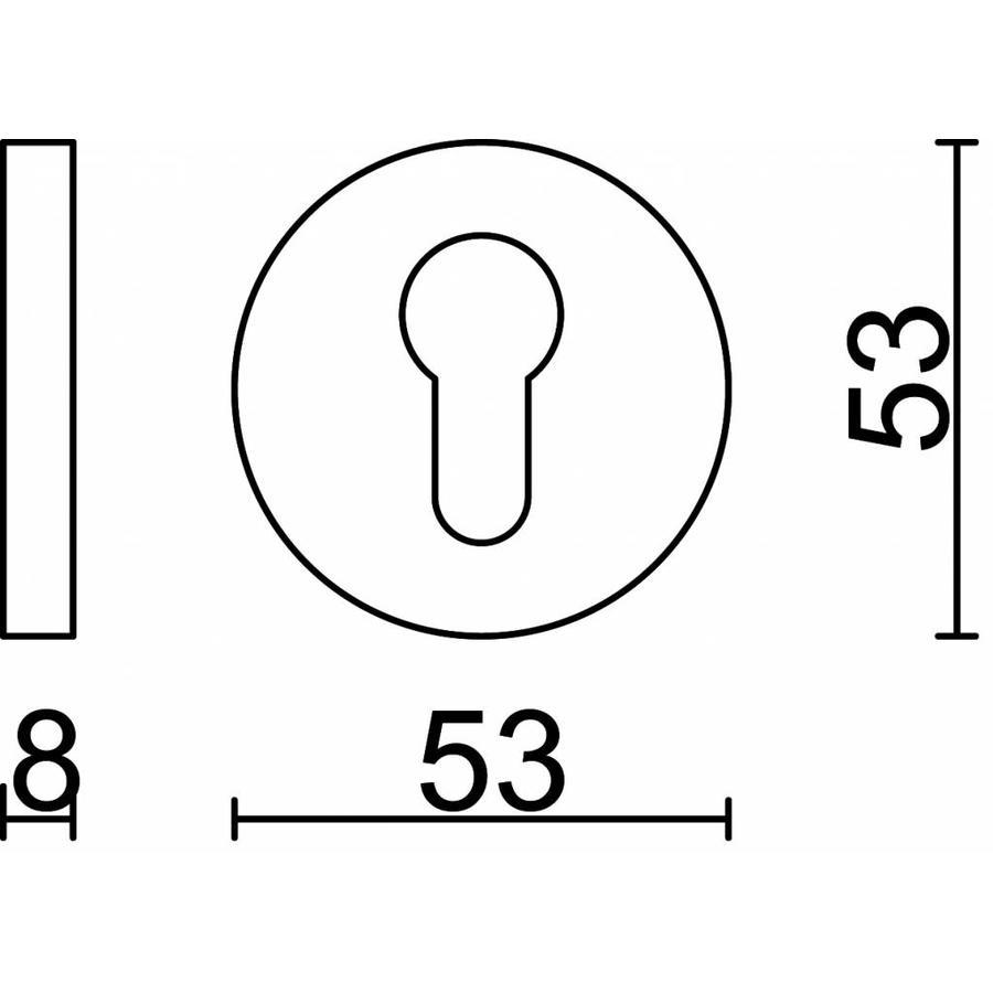 1 sleutelplaatje voor cilinderslot inox plus
