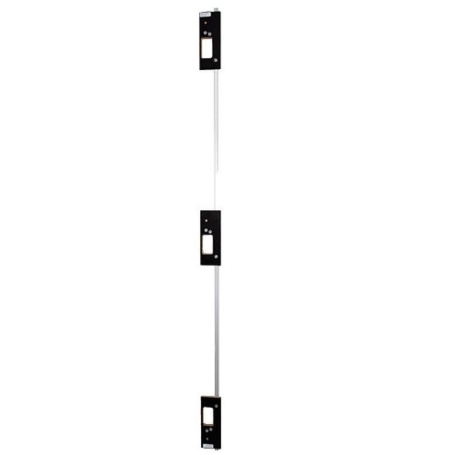 Profiel met freesmallen tbv montage 3 Intersteel kogellagerscharnieren 76x76mm