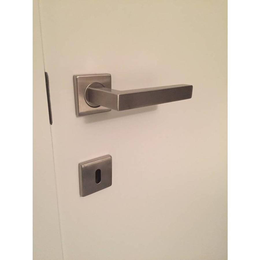 RVS deurklinken 'Kubic shape 19mm' met sleutelplaatjes