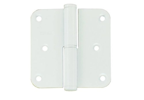 Charnière droite 80x80x2.5mm blanc