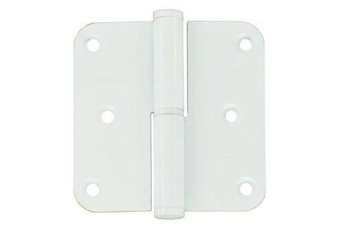 Paumelle 80x80x2.5mm blanc droit