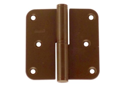 Paumelle 80x80x2.5mm rust right