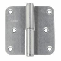 PAUMELLE RECHTS 80x80x2.5mm RVS AISI 201