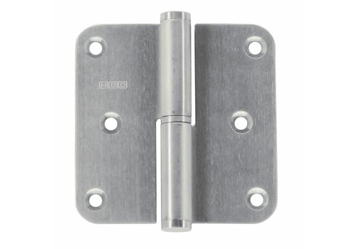Stainless steel hinge 80x80x2,5mm Right