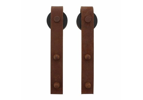 Set of 2 rollers straight 290mm for sliding door system 450101, incl. Fastening, steel antique finish