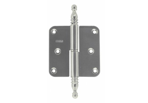 HINGE LEFT 80X80X2,5 VASE INOX NICKEL