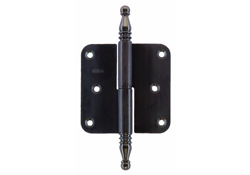 HINGE LEFT 80X80X2.5 VASE CARBON BLACK LOOK