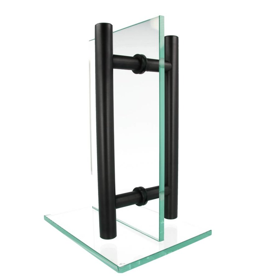 Zwarte deurgreep T 30/1200/1500 paar voor glas
