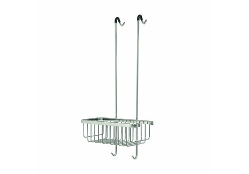 Tiger Exquisit Hangable Shower basket Stainless steel brushed