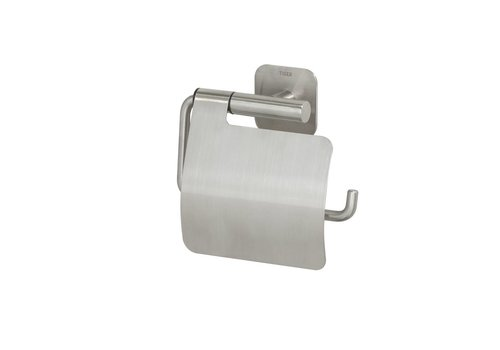Tiger Colar Toilet roll holder with cover Stainless steel brushed