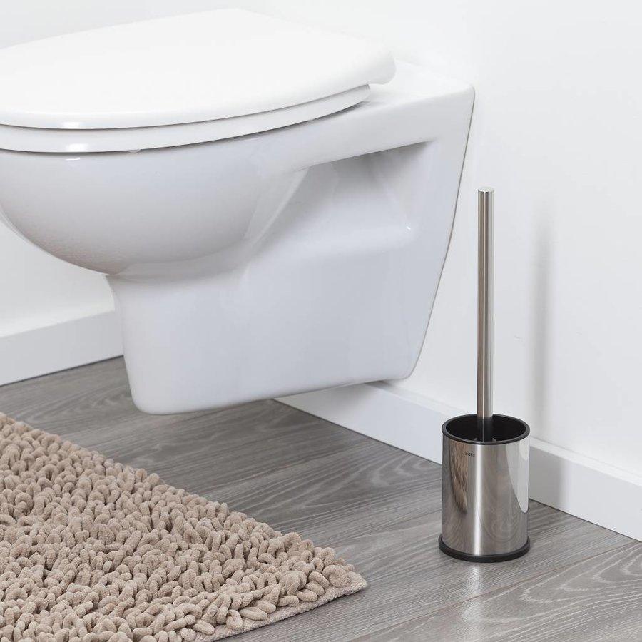 Tiger Colar Toiletborstel met houder vrijstaand RVS gepolijst
