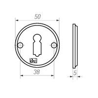 Paar Sleutelrozetten - 50 mm - verouderd ijzer - zwart