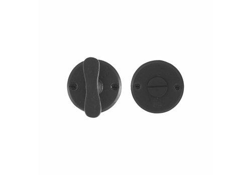 Set de toilettes WC - 50/8mm - fer vieilli - noir