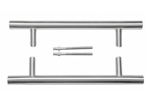 Poignée de porte en acier inoxydable ST 32/300/460 plus une paire d'épaisseurs de porte> 3 cm